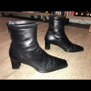 Stuart Weitzman Square Toe Ankle Boots, 9-9.5
